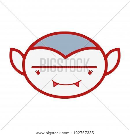 man face vampiere with fangs vector illustration