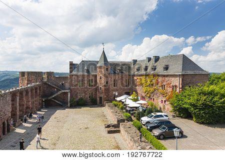 Nideggen Castle Court In Germany, Editorial