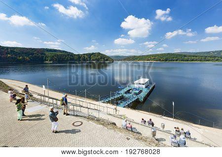 Rursee Harbor Schwammenauel In Germany, Editorial