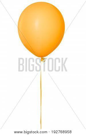 Orange balloon fun descriptive white background colorful