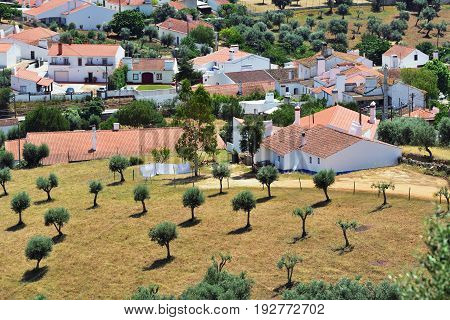 Beautiful countryside landscape nearby Evoramonte in Portugal