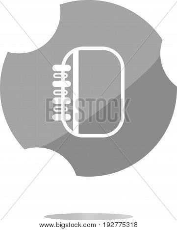 Button Web Icon With Folder (book) Isolated On White