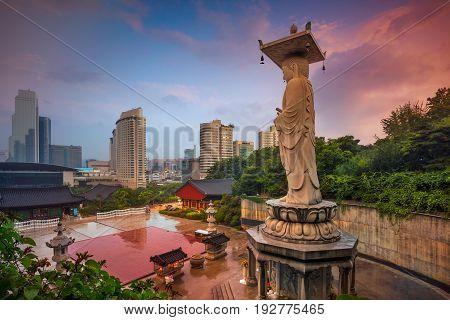 Seoul. Landmark of Seoul Bongeunsa Temple in the Gangnam District of Seoul, Korea.