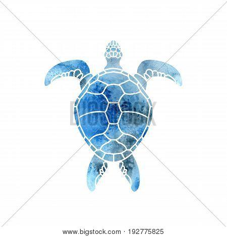 Cheloniidae. Turtle. Wildlife. Silhouette. Symbol, icon, logo. Vector illustration.