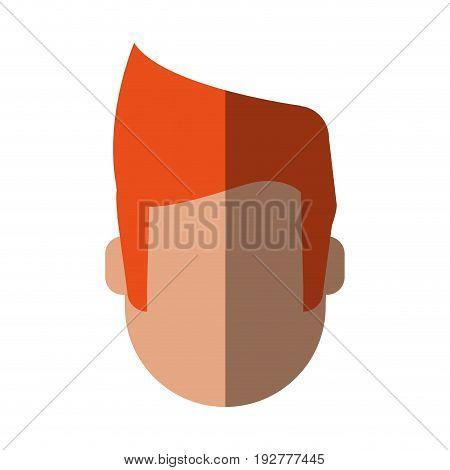 head of faceless man icon image vector illustration design