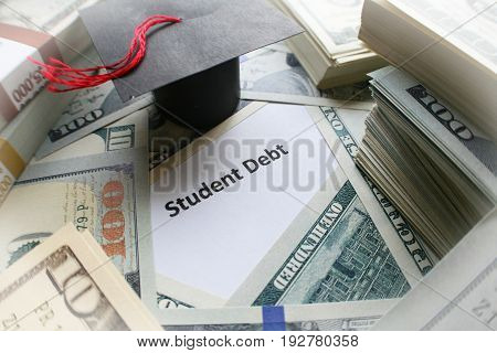 Student Debt Crises Close Up High Quality