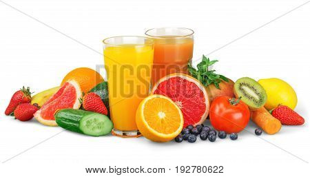 Tasty vitamin juice vitamins fruits color nobody