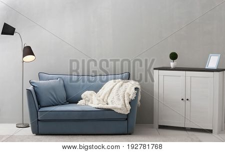 Stylish modern interior of living room