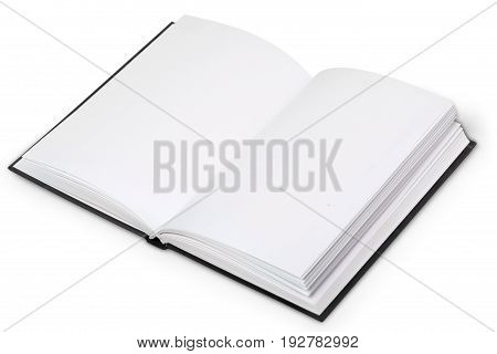 Paper blank fold white background design space