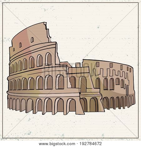 Coliseum hand drawn vector for your ideas