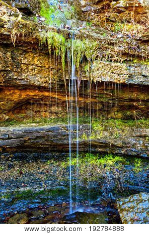 Iridescent Colors in a Natural Spring in Devils Den State Park in Arkansas