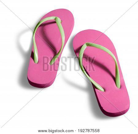 Rubber sandal flip flops leisure colours colors white