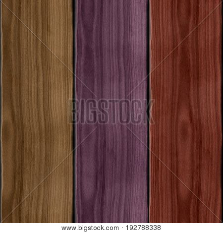 Three hue colored violet red brown wooden 3d planks texture