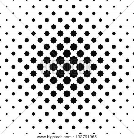 Abstract black and white curved octagon pattern background design