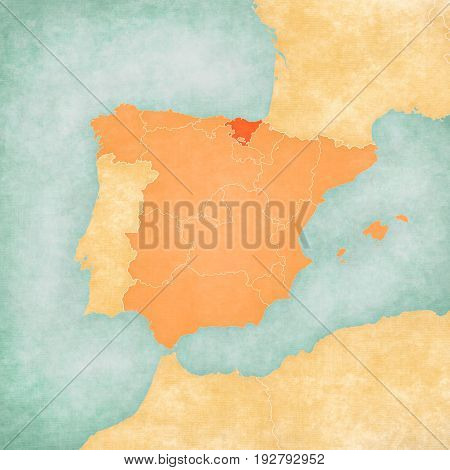 Map Of Iberian Peninsula - Basque Country