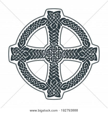 Vector celtic cross. Ethnic ornament. Geometric design. T-shirt print. Vector illustration