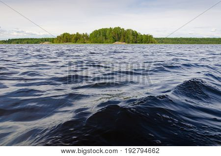Island in the Gulf of Finland. Seascape of the Baltic Sea