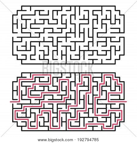 Abstract maze / labyrinth with entry and exit. Vector labyrinth 163.
