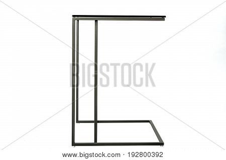 modern glass table isolated on white background