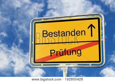 Traffic Sign, Passed Vs. Exam