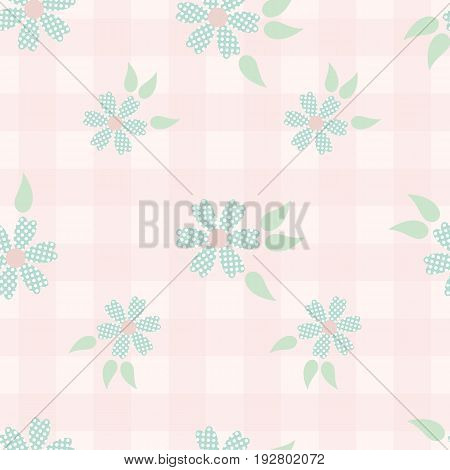 Shabby chic floral pattern. Seamless vector background in shabby chic style for web design