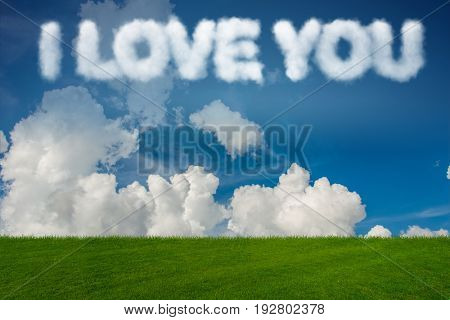 Romantic concept with clouds on sky