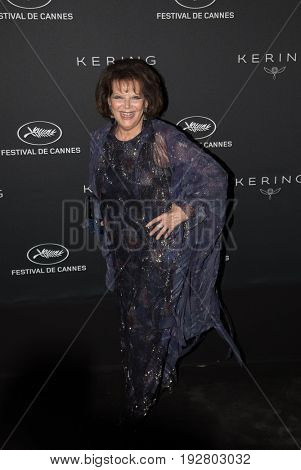 Claudia Cardinale at the Women in Motion Awards Dinner  for at the 70th Festival de Cannes.May 21, 2017 Cannes, France