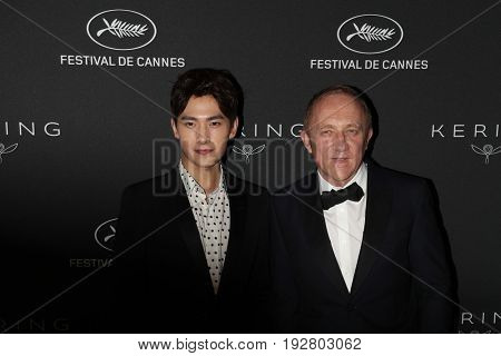 Francois-Henri Pinault, Yang Yang at the Women in Motion Awards Dinner  for at the 70th Festival de Cannes.May 21, 2017 Cannes, France