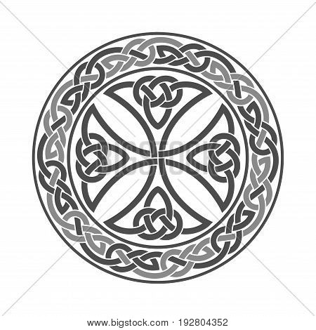 Vector celtic cross. Ethnic vector ornament illustration