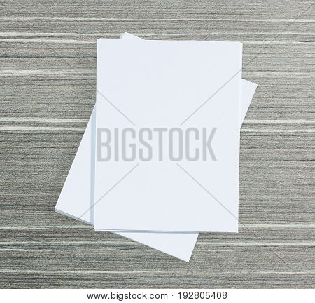 White Paper On Wood Table Of Background