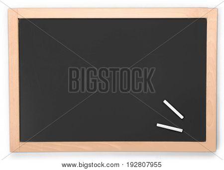 Board blank chalk high school white background copy