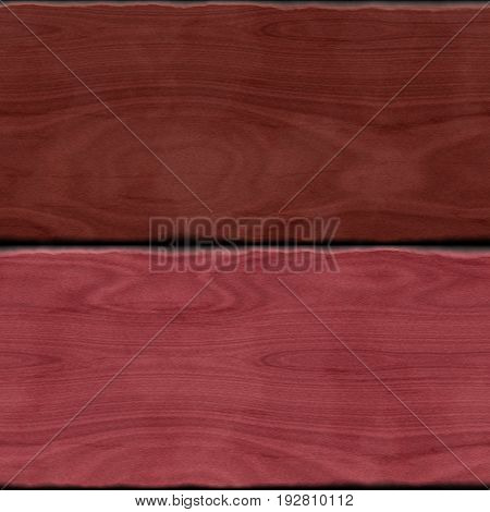 Two red purple brown wooden wood 3d planks