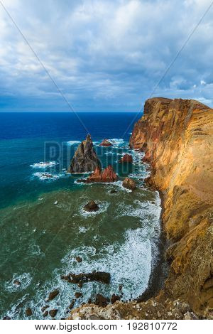 Cape Ponta de Sao Lourenco in Madeira Portugal - nature background