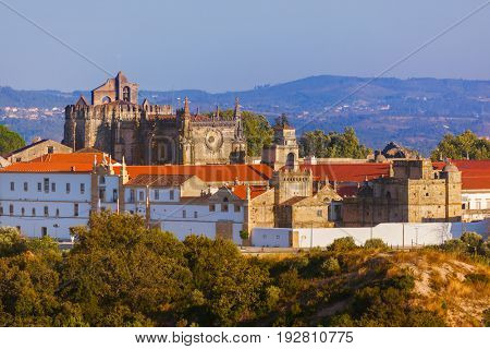 Knights of the Templar (Convents of Christ) castle in Tomar Portugal