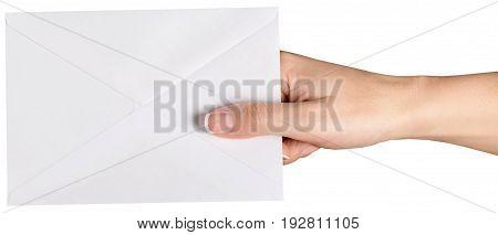 Card hand blank envelope nobody copy paper