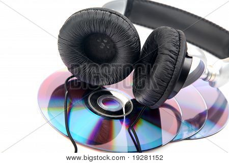 Headphone And Compact Discs