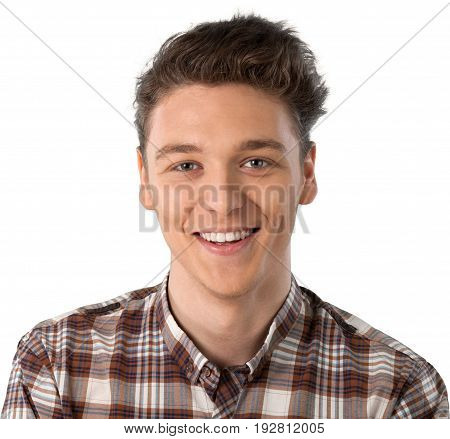 Smiling man young adult man face background day person