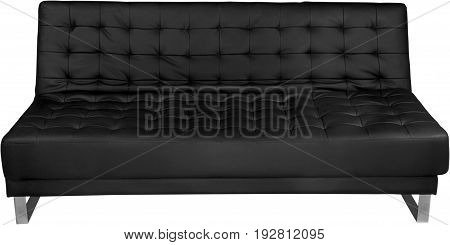 Black leather modern sofa leisure color image