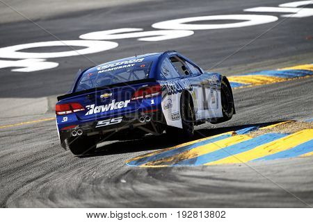 June 23, 2017 - Sonoma, CA, USA: Jamie McMurray (1) takes to the track to practice for the Toyota/Save Mart 350 at Sonoma Raceway in Sonoma, CA.