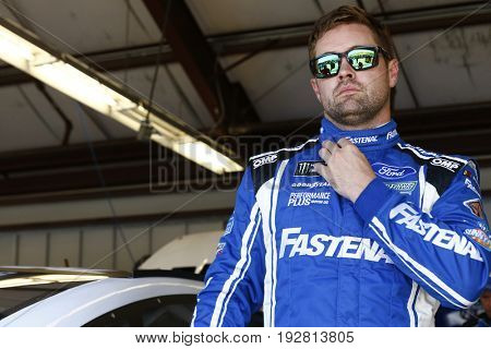 June 23, 2017 - Sonoma, CA, USA: Ricky Stenhouse Jr. (17) hangs out in the garage during practice for the Toyota/Save Mart 350 at Sonoma Raceway in Sonoma, CA.