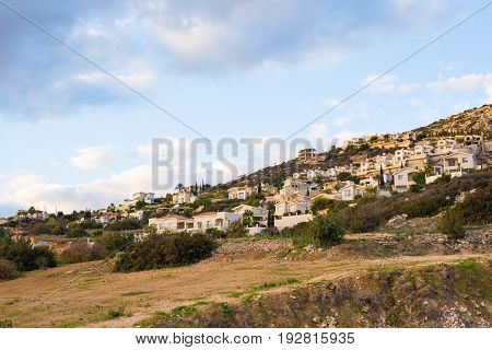 panoramic view of the village in Cyprus