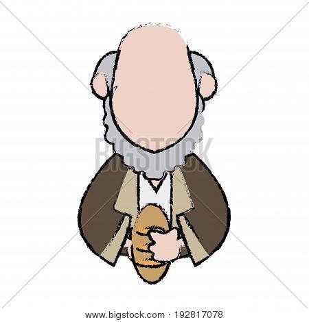 cartoon man of orient christian design vector illustration
