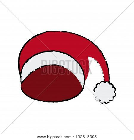 winter knitted hat with pompon sketch style winter accessory vector illustration