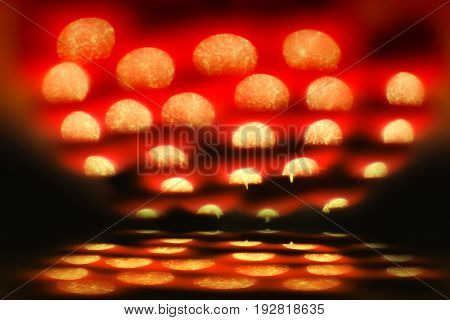 glitter red, blur bokeh defocused, color filter for abstract background