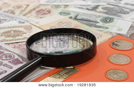 Numismatics concept