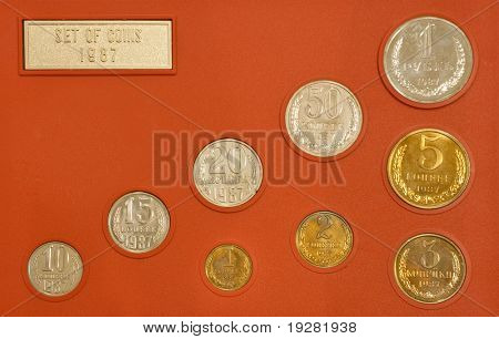 Set of old Soviet Union coins