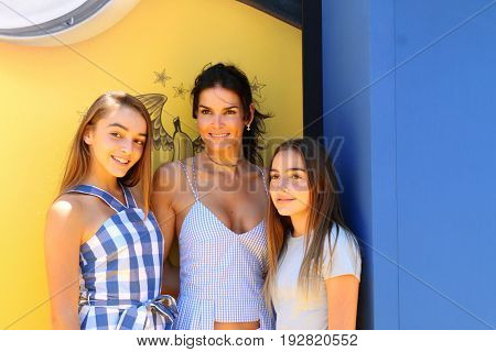LOS ANGELES - JUN 24:  Finley Sehorn, Angie Harmon, Avery Sehorn at the