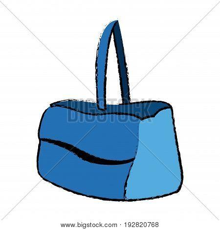 blue purse handle case handbag icon vector illustration