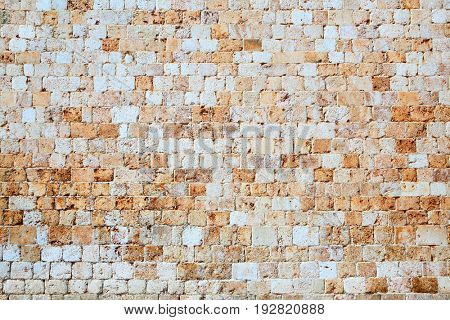 Texture of ancient stone wall, architecture background