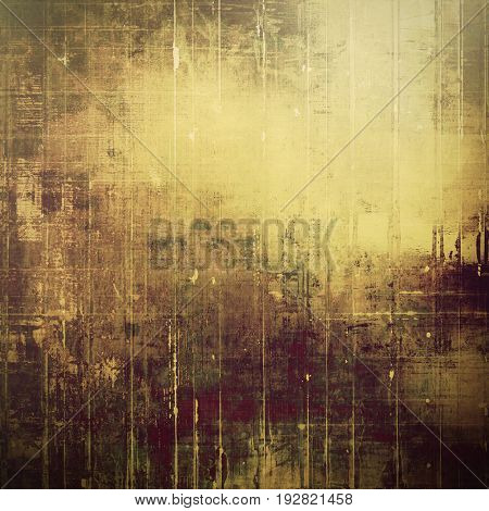 Old grunge background or aged shabby texture with different color patterns: yellow (beige); purple (violet); brown; gray